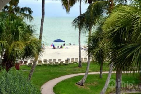 View from Screened Lanai - GULF FRONT!!!! STEPS TO BEACH!!! - Sanibel Island - rentals