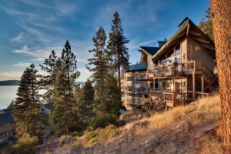 Grand Cave Rock Home: Vaulted Ceilings, Multiple Decks with Lake Views, Pool Table (CR13) - Image 1 - Zephyr Cove - rentals