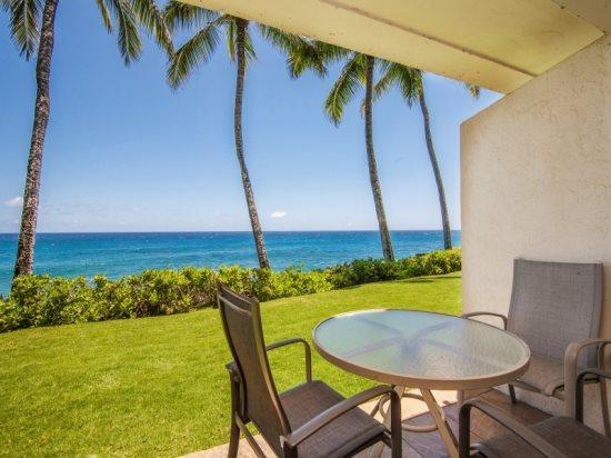 lanai - Poipu Shores 102A, Awesome ocean front condo with stunning ocean views. Ground floor unit. Heated pool. Free car* with stays of 7 nights or more. - Poipu - rentals