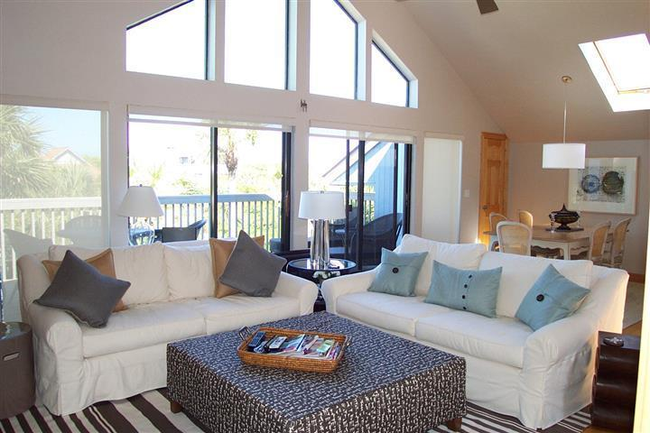 bright and open living concept - Modern home with private beach access, pool & dock - North Captiva Island - rentals