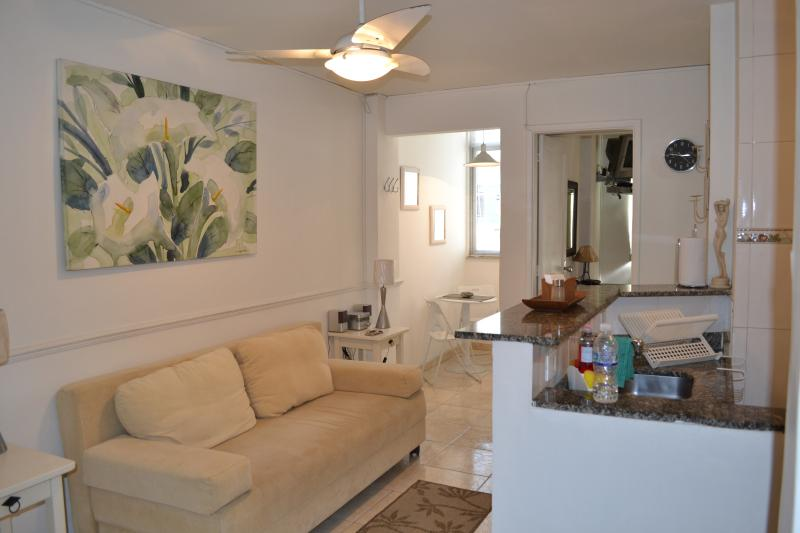 Living Area - Nice, Modern 1 Bedroom Apartment in Copacabana - Copacabana - rentals