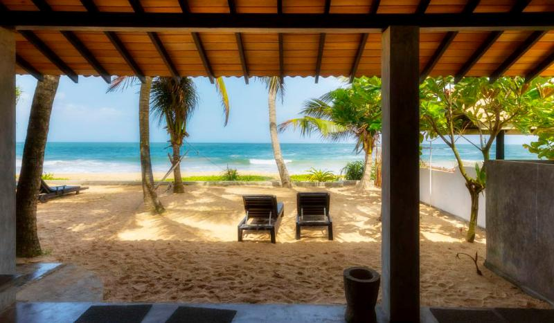 beach from the veranda - Casananda-2 bedroom beach-house air-con free wifi - Ambalangoda - rentals