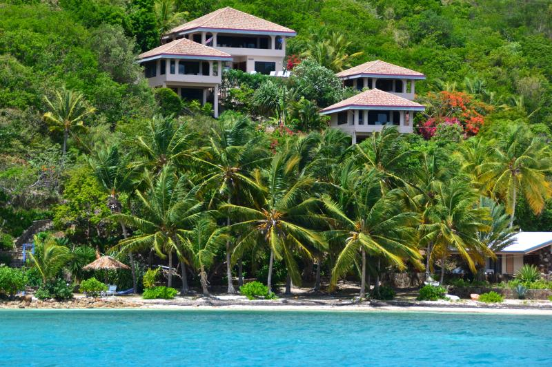 Dos Sols Villa from Little Leverick Bay - Virgin Gorda - Dos Sols Villa - North Sound - rentals