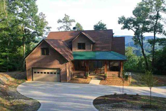 Vista Lael Lodge front - Vista Lael Lodge Totally secluded in Lone Mountain Shores - New Tazewell - rentals