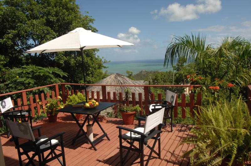 The terrace with view of the indian ocean - On the Rodrigues Island, charming villa with garden and view of the Ocean - Rodrigues Island - rentals