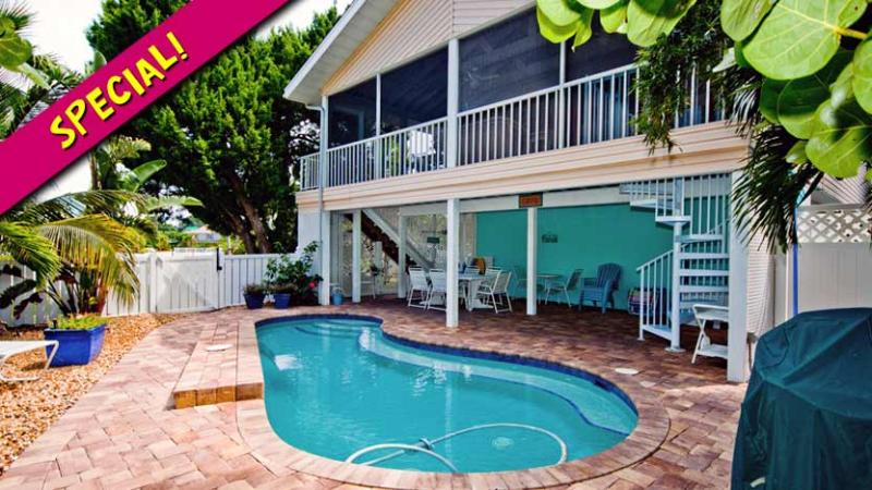 Ask About our Special! - Life is Good at the Beach: 3BR/2BA Family- and Pet-Friendly Pool Home - Anna Maria - rentals