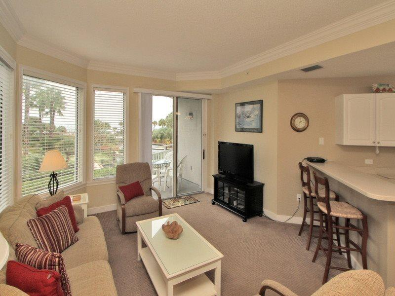 Living Room with Ocean Views at 1104 Sea Crest - 1104 Sea Crest - Hilton Head - rentals