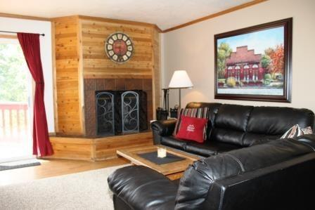 Living room and Kitchen - Walk off the back deck and onto the SLOPES! - Brian Head - rentals