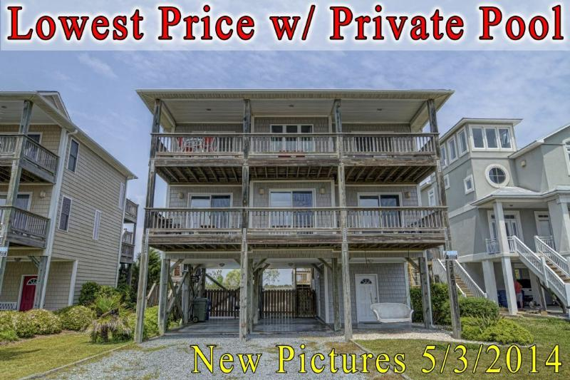 Front of Home - Island Drive 3767 Oceanview! | Private Pool, Hot Tub, Fireplace, Internet, Game Equipment - North Topsail Beach - rentals