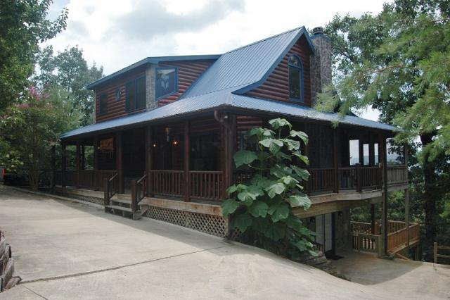 Dances with Wolves Outside - My Mountain Cabins Rental in Blue Ridge Georgia - Morganton - rentals