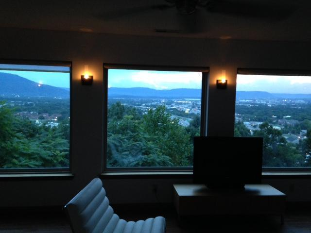 view at dusk  - City Overlook - above downtown Chattanooga - Chattanooga - rentals