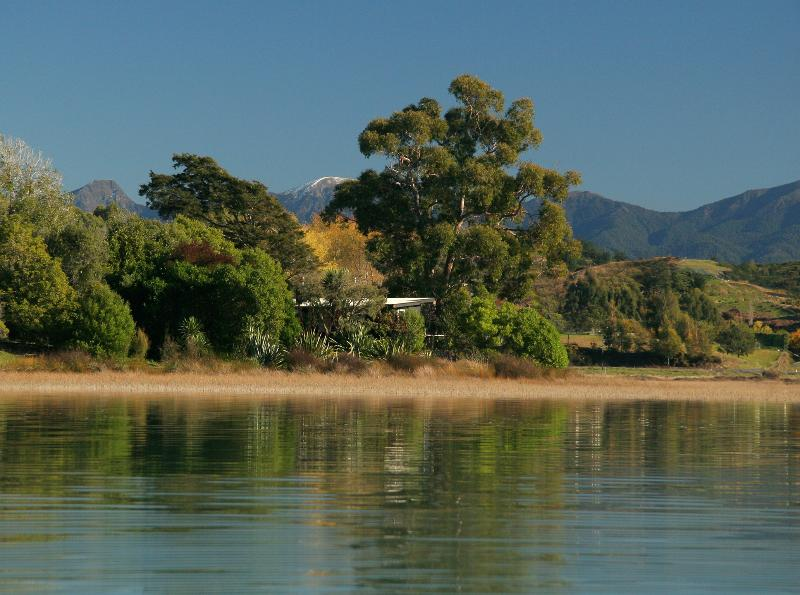 Miro Cottage from the estuary - Miro Cottage at Matahua Cottages, Mapua-Nelson - Nelson - rentals