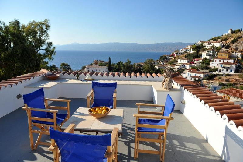 Top Floor terrace with Sea View - Freddy's House-One of the Great Ones-Lower Kaminia - Hydra Town - rentals