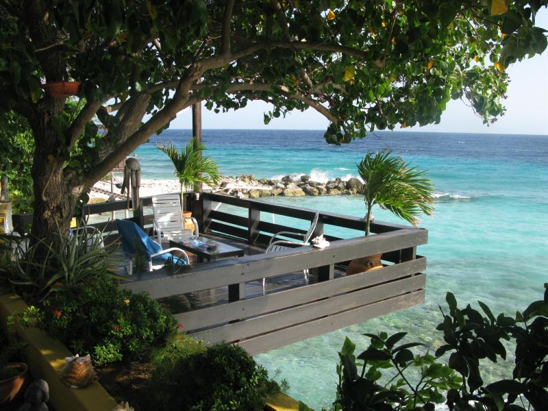 Terrace above the sea - Sea Side Villa Curacao - Dorp Sint Michiel - rentals