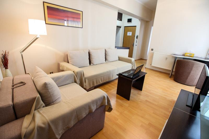 Office Apartment - Romana Square - Living Room - Extensible Sofa - Office Apartment - One Bedroom - Romana Square - Bucharest - rentals