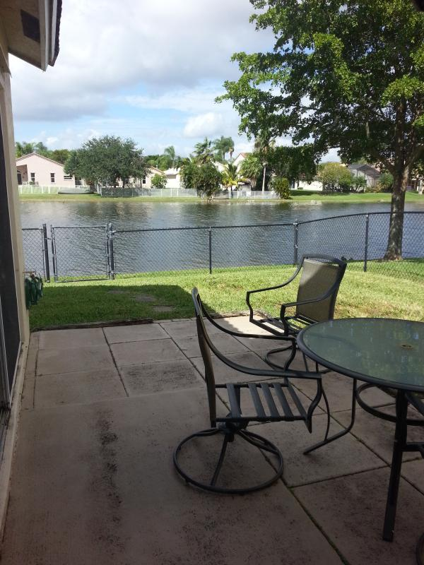 Patio with Lake View - MISTY HAVEN - Pembroke Pines - rentals