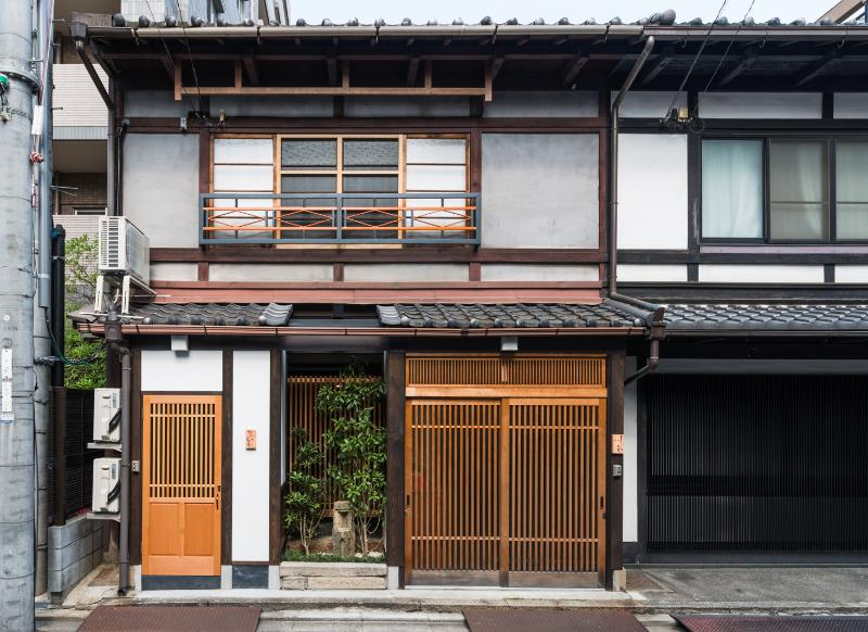 Exterior: Shimoza-an door is on the right side - Traditional Machiya in the Heart of Kyoto,  Shimoza-an - Kyoto - rentals
