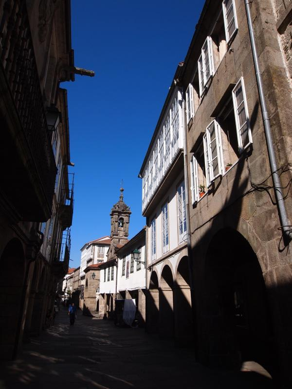 The house is on the right, and Rua Nova - Beautiful Stone House steps from the Cathedral! - Santiago de Compostela - rentals