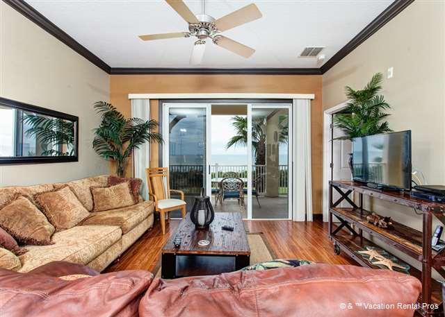 Florida sunlight touches our entire living area! - 633 Cinnamon Beach Front, 3rd Floor Ocean Front, Huge Balcony - Palm Coast - rentals