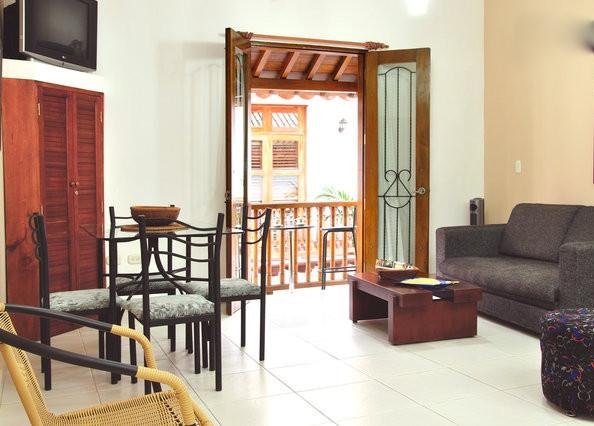 We've just entered the apartment's main door into the living/dining area. - Old City 1BR: Balcony, washer/dryer, AC, wifi... - Cartagena - rentals
