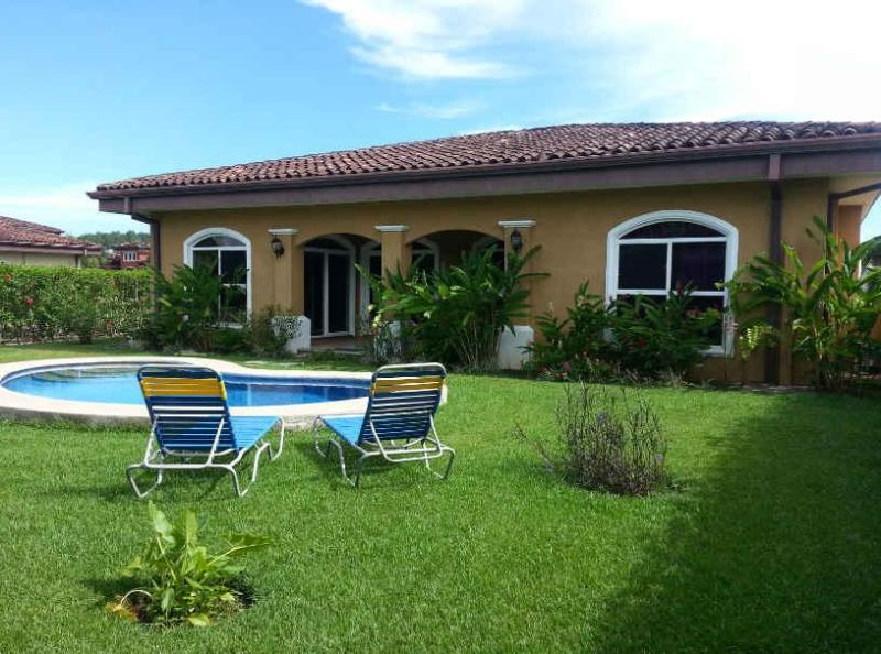 One of the biggest backyards in the community! - EcoVida Casa Tropical with Pool at Playa Bejuco - Playa Bejuco - rentals