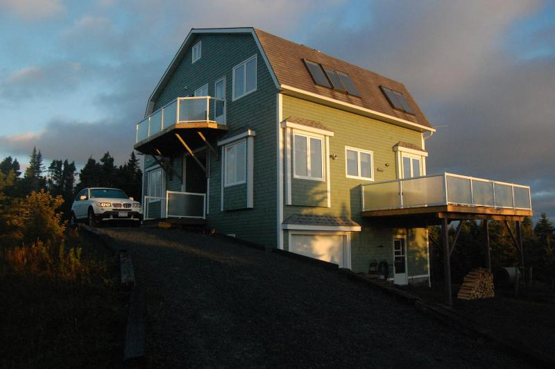House at Sunrise from Pull-Up Driveway - SkyView on LaHave Island. Above Trees/Ocean Views! - Lunenburg - rentals