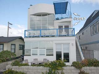 Stunning oceanfront penthouse- glass living room, multiple decks, jacuzzi tub - San Diego vacation rentals