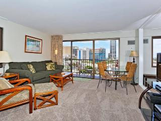 Four Paddle #702 - 1 bedroom w/AC, tree-top ocean views, W/D, free parking, WiFi, walk to beach! - Waikiki vacation rentals
