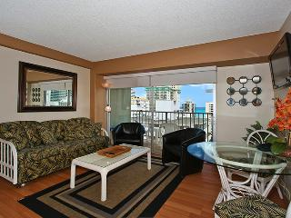 Waikiki Park Heights #1206 - One-bedroom with ocean view and central AC; 10 min. walk to beach. Sleeps 4. - Waikiki vacation rentals