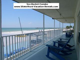 Sea Rocket #7  Gulf Front, ground floor, Totally Renovated condo! - North Redington Beach vacation rentals