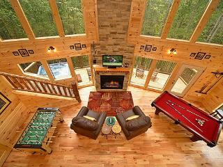 Luxury 2 Bedroom Gatlinburg Cabin with 18 foot Rain Shower! - Gatlinburg vacation rentals