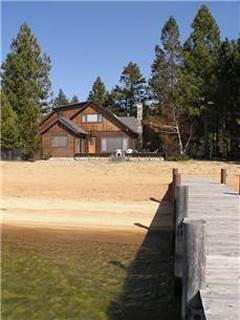 Lakefront Tahoe Mountain Home, with Private Beach and Boat Dock and Hot Tub (ST03) - Image 1 - South Lake Tahoe - rentals
