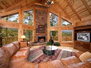 Enjoy mountain views in this huge 4 bedroom true log cabin in Gatlinburg - Gatlinburg vacation rentals