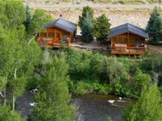 Premium 2 BR Cabin on Taylor River With Private Hot Tub at Three Rivers Resort in Almont (#18) - Almont vacation rentals