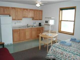 Hotel Style Room with Kitchenette, Futon and Full Bath at Three Rivers Resort in Almont (Lodge Room B) - Almont vacation rentals