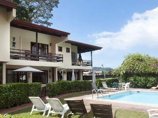 Downtown location in quiet cul de sac,pool,mountains view,AC,3 TVs,Internet - Jaco vacation rentals