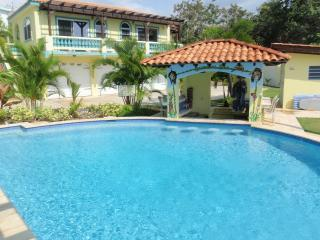 Pool w/ Swim up pool bar - Villa Playa Maria - Tropical Beachfront Luxury - Rincon - rentals