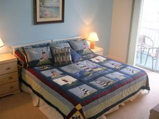 Master Lighthouse Bedroom Suite, Ensuite Bath & View of the Water - Sunset Beach Bliss - Luxury Condo with Water View - Sunset Beach - rentals