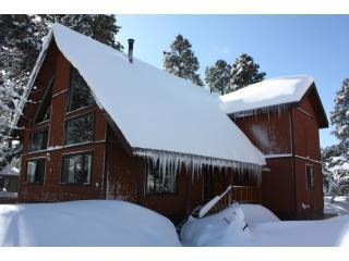 In the snow! Let it snow. Old colors - 3b+Loft Luxury Chalet hottub Open August 18-21 - Flagstaff - rentals