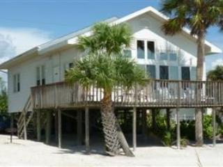 Direct Beachfront Cottage with Large Gulf View Deck and Shared Heated Pool. -  Beach Retreat Love Shack - Fort Myers Beach vacation rentals