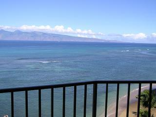 View of Molokai from 1009 Lanai - Breathtaking Oceanfront Valley Isle Resort 1009 - Kahana - rentals
