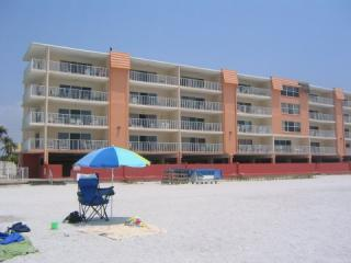 Building is directly on the white, sandy beach with the gulf and gentle surf just steps away - My Indian Shores Family Resort Vacation Condo - Indian Shores - rentals