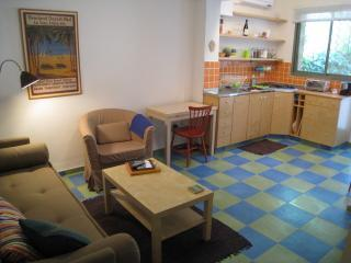 Living room + full Kitchen - German Colony Cottage -A Trip Adviser Award Winner - Jerusalem - rentals