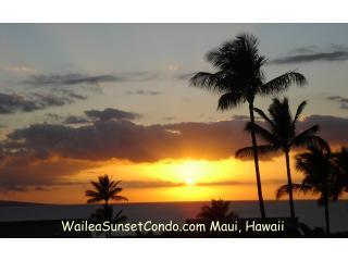 Wailea Sunset Condo View from Our Private Lanai.....Every Night is a Spectacular Sunset - Wailea Ekolu - 180 Degree Ocean View from Every Rm - Wailea - rentals