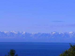 View of Olympic Mtns. from the deck - HARO HAIKU - San Juan Island, west side views - Friday Harbor - rentals