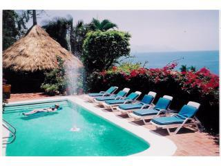 Large pool, open palapa all with spectacular oceanviews - Beautiful Hacienda Villa,Spectacular Views,3~Staff - Puerto Vallarta - rentals