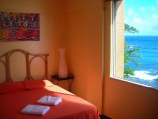 Bedroom with spectacular seaviews - Superb One-Bedroom on Waterfront with Amazing View - Salvador - rentals
