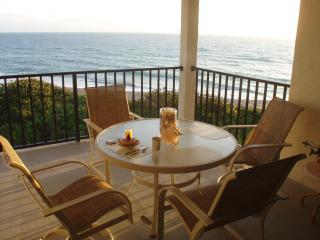 Breakfast on our balcony - Oceanfront 2 Bedroom Penthouse at Marriott Resort - Hutchinson Island - rentals