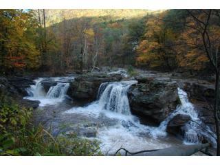 Waterfall in Autumn.JPG - Catskill Mountain Waterfall ViewHouse Woodstock NY - Catskills - rentals
