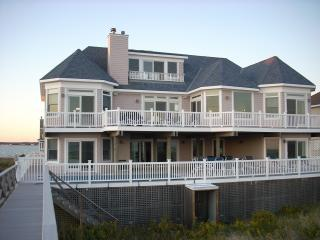 back of house, from beach walkway - Spectacular Oceanfront Hamptons Beach Home-Dune Rd - Westhampton Beach - rentals